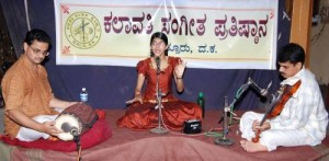 Shreya Kolathaya on a concert