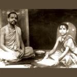 Sri Sri Vishwesha Theertha Swamiji with his spiritual guru Sri Sr Vidyamanya Theertha