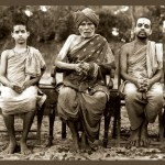 Sri Sri Swamiji, at his 16 - with Shri Vidhyamanyaru and Shatayushi Shri Sudhindra Teertha Swamiji of Puttige Matha
