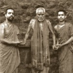 19 year old Sri Swamiji with Shri Vidhyamanyaru with Shri Sudhindra Teertha Swamiji of Puttige Matha