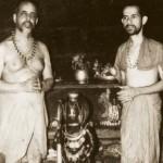 Offering Gurudakshine. Offering Phalimaru Peetam to Sri Sri Vidyamanya Swamiji of Bhandarkeri Matha