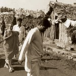 Sri Swamji, visiting the unreached areas of the Village