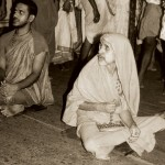 Sri Swamiji, winding his Japa with prayer of Udupi Sri Krishna