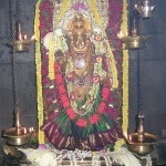 Sri Durgaparameshwari during Festival day with all ornaments.
